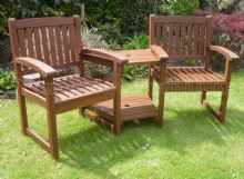 Henley Corner Love Seat Hardwood Garden Bench 1/2 Price Deal - PRE ORDER ITEM Due 27th July